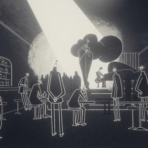 Stage scene from Genesis Noir