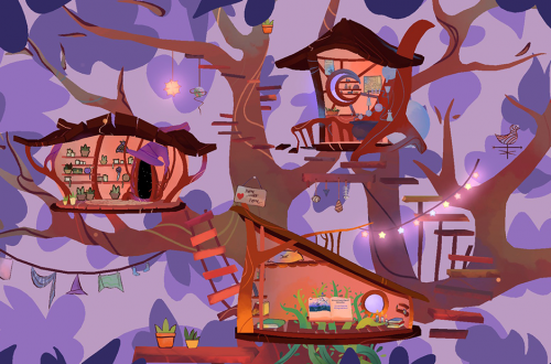 Unfamiliar game cat tree house