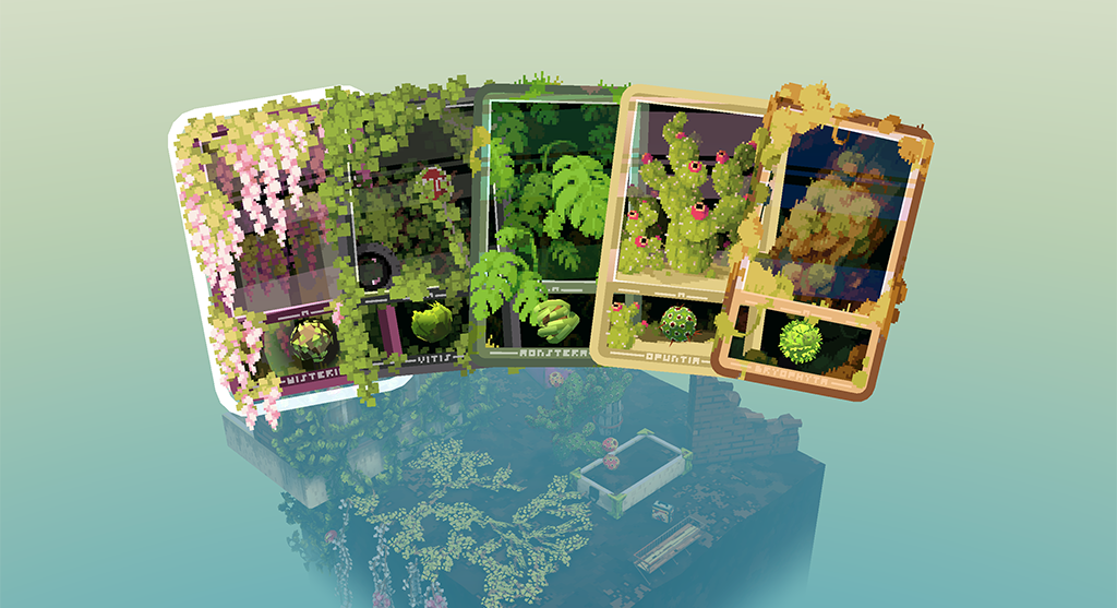 Seed card collection for Cloud Gardens