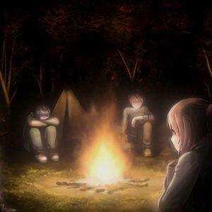 Re:Turn - Friends sitting around a campfire
