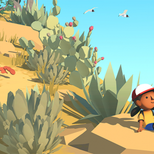 December indie game releases - Alba sitting on the beach