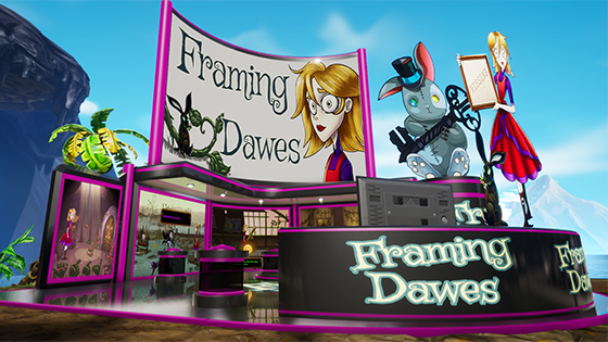 Framing Dawes booth