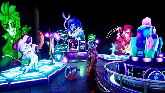Bright neon Nanokin booth