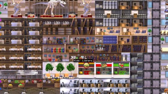 Levels of a building in Starscraper